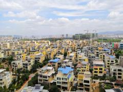 坐看假山美景,鹿城镇 南北 彝海大城 精装 288万元 5房 350m² ,看花园的中心