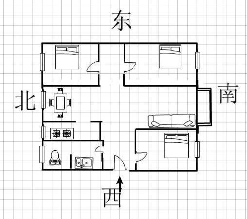 136m² 高新区 南北 精装 3房 风锦园  交通便利