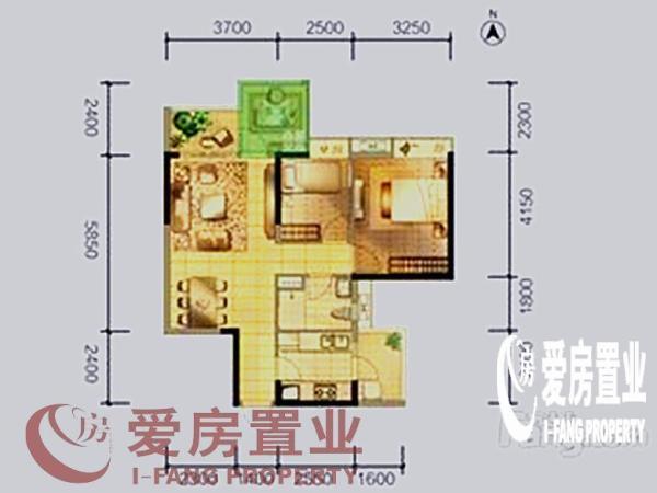 时代花生——二期 85m² 白云 3房 正南  ,此房只应天上有!人间难得见一回啊!