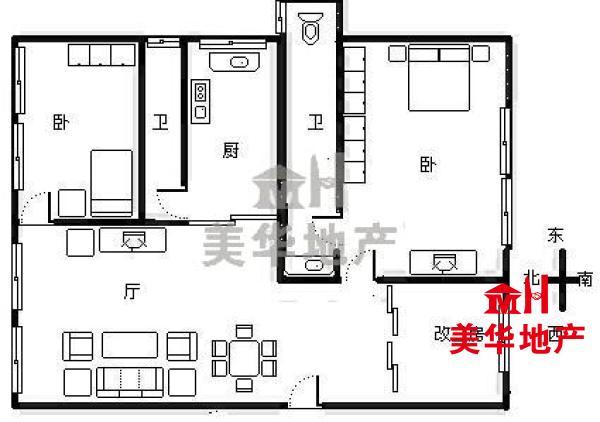 端州 奥威斯景德分校学位房 112m² 3房 精装 银海大厦 东北 59.8万元