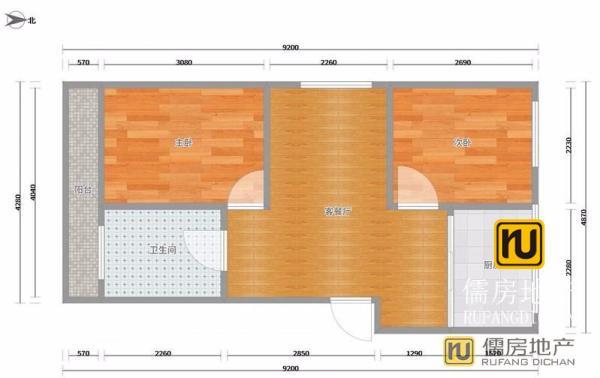 三衢世家  78m² 简装 南北 2房 衢州 ,真诚急售,升值潜力无限!