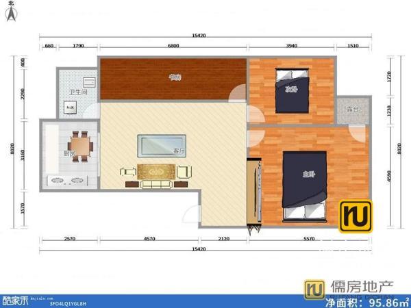 衢州 2房 世纪美林 南北 精装 47m² 万元 ,住家精装  有钥匙带您看!