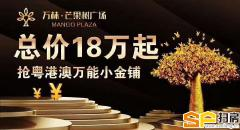 芒果树头商铺总价18万起 带红本 三年返租18点