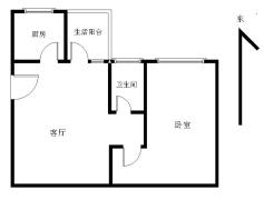 金怡苑 1房 47m² 32万元 简装 中山 正南 ,此房只应天上有!人间难得见一回啊!