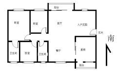 南北 103m² 中山 3房 骏珑盛景 精装2500元/月 ,家具电器齐全,有匙即睇!
