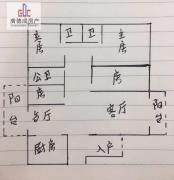 超低单价,不临街,随时腾房惠东 179m² 公园一号 毛坯 南北 4房  !