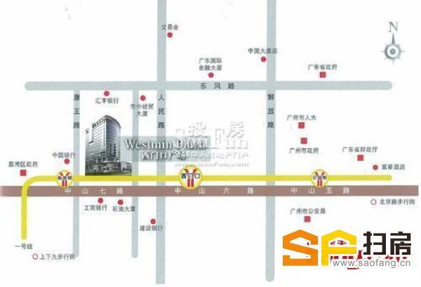 450方甲级写字楼 西门口广场 户型方正 实用率高 交通方便
