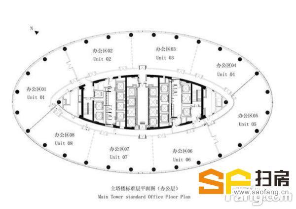 珠江新城写字楼出租 雅居乐中心 豪装710平方