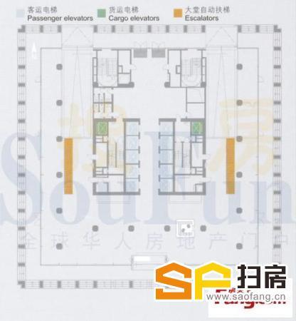 广州写字楼出租 发展中心 全层2052平方 珠江新城写字楼