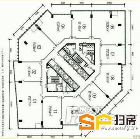 广州写字楼出租 盈泰广场133方 带装修 2间隔 方正实用