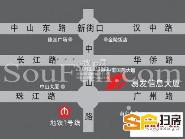 易发信息大厦 珠江路地铁口 精装纯写整租 家具齐全 随时免费