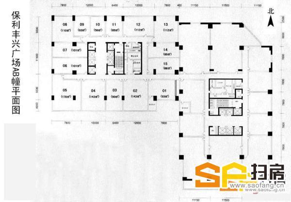 保利丰兴广场:750平方,建筑公司装修,地铁口配套 成熟。