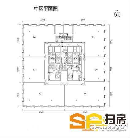 广州写字楼出租 邦华环球广场 全层精装2137平方