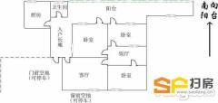 赤岌岗工行宿舍3室2厅120平米南北通透近公园近学校生活便利-整租