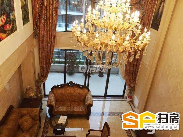(豪装复式)星河丹堤,212平豪华装修,标准五房,15000万月.-整租