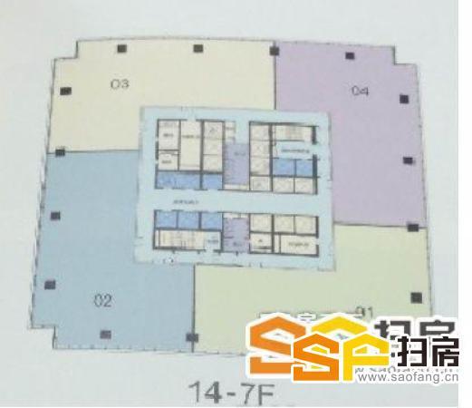 广州之窗:1100平方半层带装修,高层大视野,城市CBD中轴南
