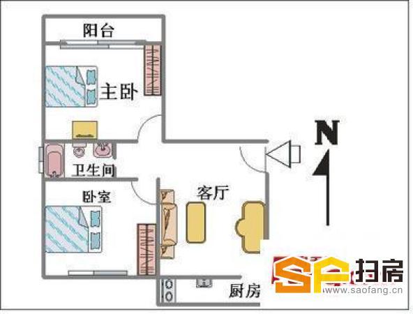 核四院宿舍,两室一厅,拎包入住-整租