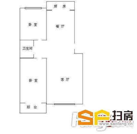 稀缺好房型,小马新村 2000元 2室2厅1卫 普通装修,先-整租