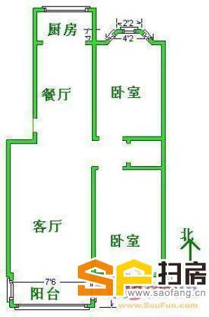 2室1厅 家具家电齐全 可拎包入住 室内干净卫生 采光好 位置佳-整租