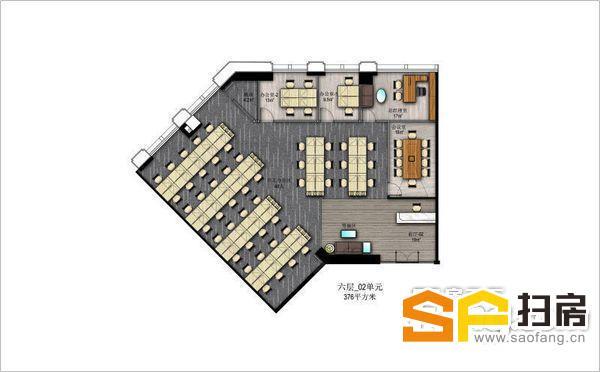 美林基业大厦写字楼小面积单元出租,可做好装修再交付使用