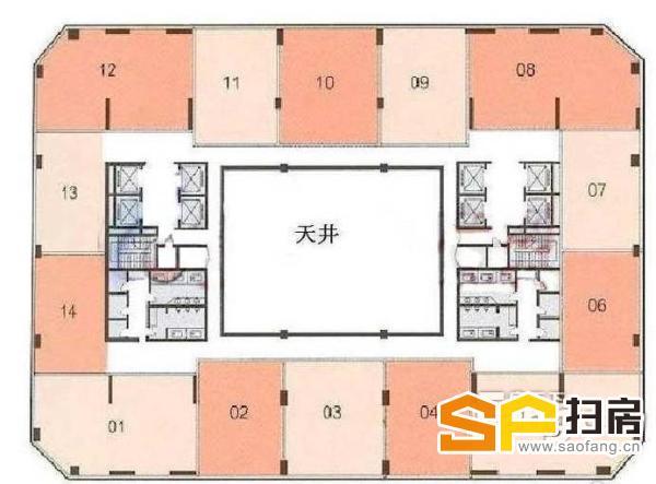 宜安广场200方仅租110元/方含票 带多间隔即租即用