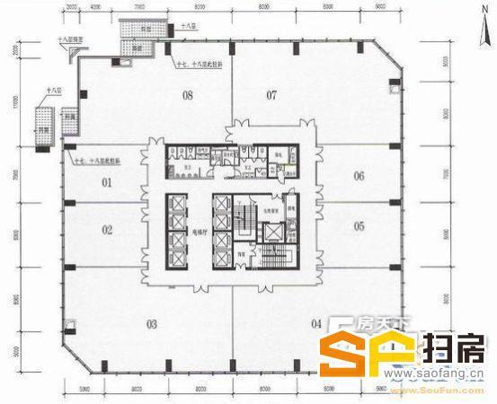 广州天河珠江新城 富力科讯大厦 1800方精装修 可分组 即租即用