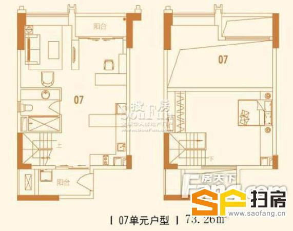 珠江新城 方圆月岛 复式星级单间 简约风格-整租 扫房网