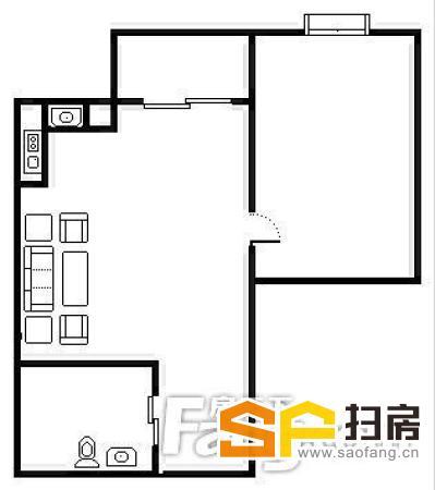金悦东山国际公馆 精装1房1厅 家电齐全 交通便利-整租 扫房网