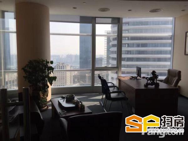 雅居乐中心高层单位1254方 正对电梯口 带装修家私 员工区坐200人 扫房网