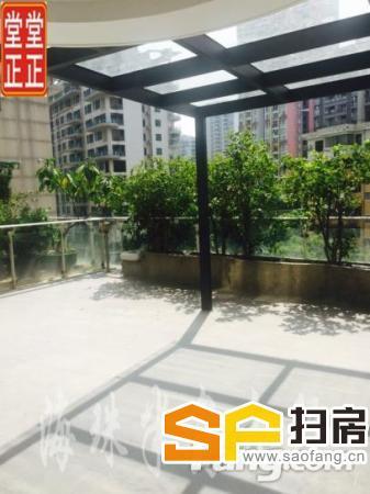 中信君庭,全江景,南北对流,带60方平台花园,随时看房-整租