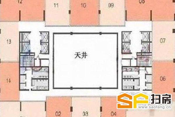 白云万达广场纯写字楼 460平方 办公商业配套齐全 扫房网