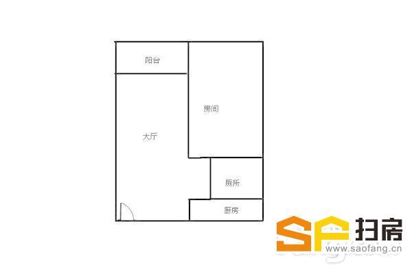 柏涛雅苑1室空间布局有致,和谐有序,清新空气自由穿行-整租