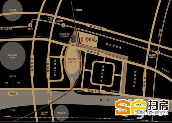 科韵路 金融城地标建筑 全层2200方出售可分割 享有超靓南向望江