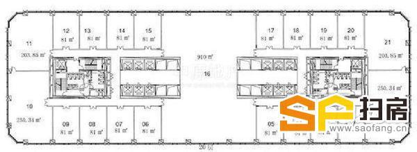 耀中广场写字楼出租 豪华装修 正对梯口 繁华商圈 即租即用