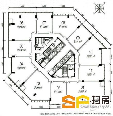 珠江新城全新保养 即买即用方正实用 写字楼整层出售 扫房网