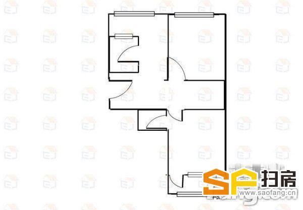 40中青园街小学片内祥龙花园+精装修偏门2居客厅能用黄金楼层