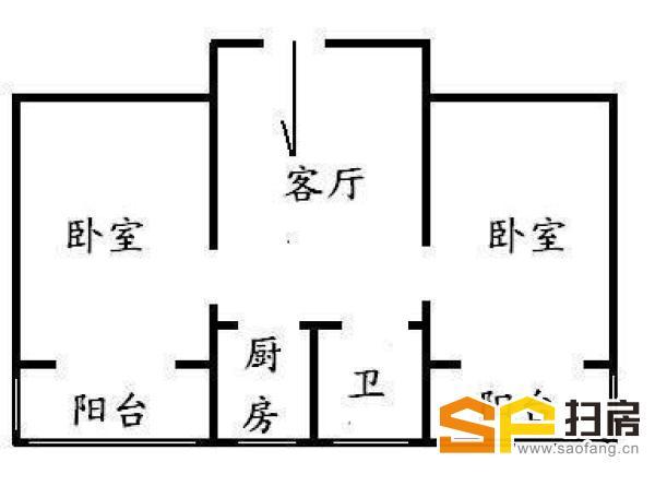 裕华 华兴小区 两室一厅 南 黄金楼层 看房方便