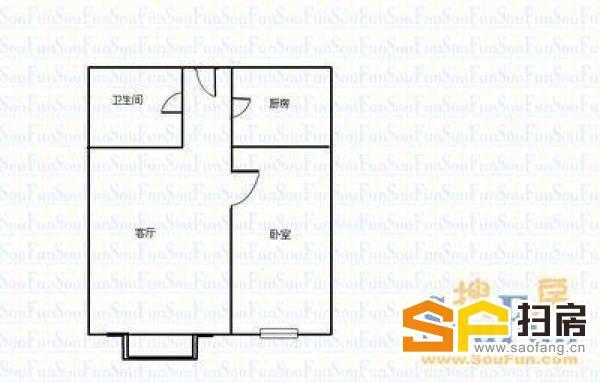 火车站对面 铁60宿舍 简装一室 黄金楼层 送小房