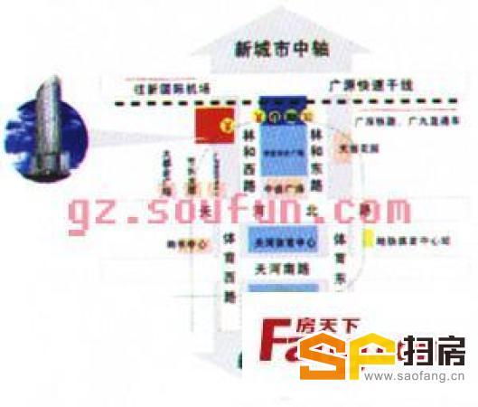 中泰国际广场写字楼广州东站上盖交通方便 带租约售 自用可解约