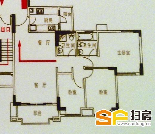 锦绣香江温馨3房,拎包入住,可遇不可求! 扫房网