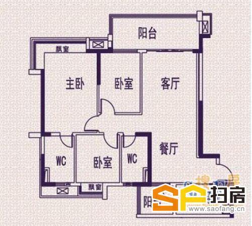 单边位南向大三房 凤锦苑135方中间楼层精装180万 扫房网