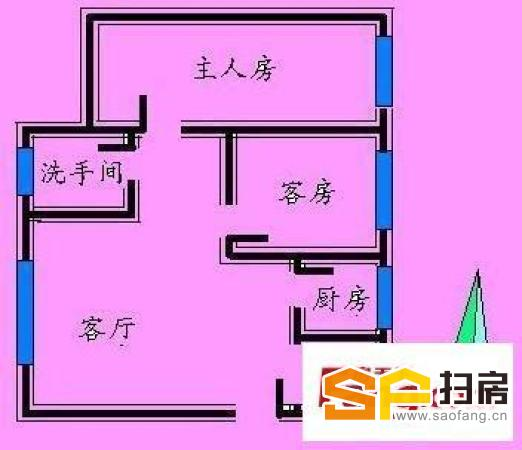 兴华街道办,大两房可改三房,带全新装修,电梯中等楼层,单价