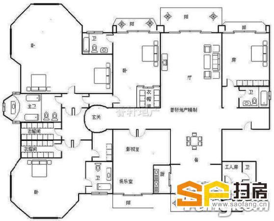 新上房源 星河湾6号4室仅售980万元 超值