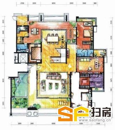 锦绣香江单边位大大空中花园别墅花园750方仅此一套没有之一 扫房网
