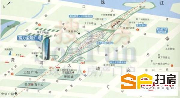 广州富力盈隆广场整层放卖 高层单位租金高 动作要快姿势要