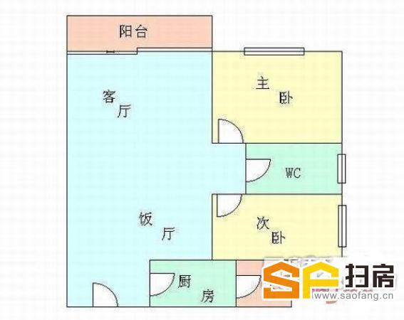 芳村 茶滘 荔丰花园 电梯两房 望花园 简单装修 方便看房