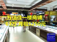商业中心 万信佳广场 一楼旺铺出售!