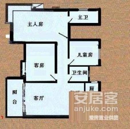 100分100真实房 合一国际 三房 东南向 单边位 无遮挡