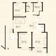 锦安花园 155万元 3房 101m² 精装 南北 崇川 格局极好,看房随时