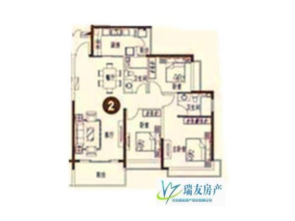 中心区,低于市场价,1万元 石家庄 3房 恒大绿洲 138m² 精装 南